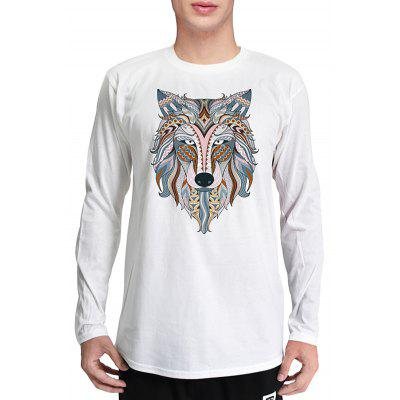 Mr.1991INC Miss.GO Casual Animal Printing T-Shirt for Men