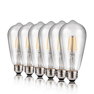 zanflare LED ST64 Filament Lamp Set of 6 - TRANSPARENT в магазине GearBest
