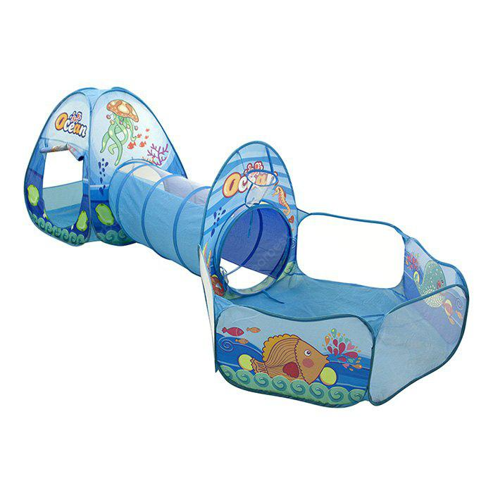 Newest Ocean Theme Kids Play Tent with Tunnel Ball Pits