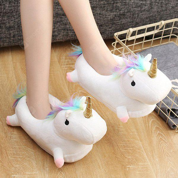 Stylish Warmest Homelike LED Half Unicorn Slippers