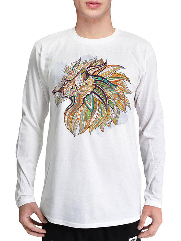 Mr 1991 INC Miss Go Lion Head Printing T-shirt