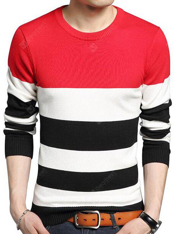 Men Sweater Casual Warm Long Sleeves Round Collar