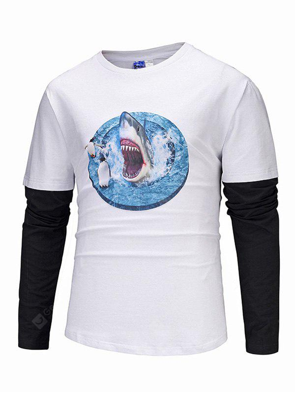 Mr 1991 INC Miss GO Joint Long Sleeves Round Collar Tee