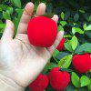Artificial Foam Apple Handmade Christmas Accessory 6PCS - RED