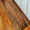 Pattern of Wood Floor Rug Mat Flannel Carpet - EARTHY