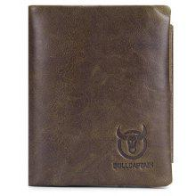 65% OFF BULLCAPTAIN Men Genuine Leather Trifold Wallet 87e0519114053