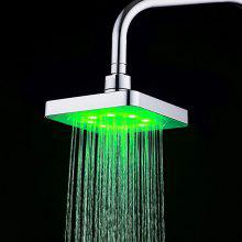 3-Color Changing LED 8 Inch Square Top Shower Head