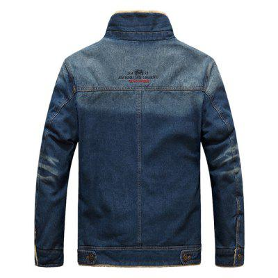 Stylish Denim Winter JacketMens Jackets &amp; Coats<br>Stylish Denim Winter Jacket<br><br>Closure Type: Single Breasted<br>Clothes Type: Denim Jacket<br>Collar: Turn-down Collar<br>Embellishment: Others<br>Materials: Cotton, Denim, Polyester<br>Occasion: Daily Use<br>Package Content: 1 x Denim Winter Jacket<br>Package Dimension: 75.00 x 28.00 x 35.00 cm / 29.53 x 11.02 x 13.78 inches<br>Package weight: 1.5400 kg<br>Pattern Type: Others<br>Product weight: 1.4000 kg<br>Seasons: Winter<br>Shirt Length: Regular<br>Sleeve Length: Long Sleeves<br>Style: Casual<br>Thickness: Thickening