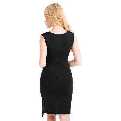 Sleeveless Bodycon Split Hemline DressWomens Dresses<br>Sleeveless Bodycon Split Hemline Dress<br><br>Dresses Length: Knee-Length<br>Material: Cotton, Polyester<br>Neckline: Square Collar<br>Package Contents: 1 x Dress<br>Package size: 20.00 x 10.00 x 1.00 cm / 7.87 x 3.94 x 0.39 inches<br>Package weight: 0.1600 kg<br>Pattern Type: Solid Color<br>Product weight: 0.1500 kg<br>Season: Summer<br>Silhouette: Bodycon<br>Sleeve Length: Sleeveless<br>Sleeve Type: Cold Shoulder<br>Style: Sexy<br>With Belt: No
