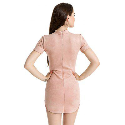Women Suede Short-sleeved Fitted DressWomens Dresses<br>Women Suede Short-sleeved Fitted Dress<br><br>Dresses Length: Mini<br>Material: Cashmere, Cotton<br>Neckline: Jewel Neck<br>Package Contents: 1 x Dress<br>Package size: 20.00 x 10.00 x 1.00 cm / 7.87 x 3.94 x 0.39 inches<br>Package weight: 0.3200 kg<br>Pattern Type: Solid Color<br>Product weight: 0.3100 kg<br>Season: Fall, Spring<br>Silhouette: Bodycon<br>Sleeve Length: Long Sleeves<br>Style: Sexy<br>With Belt: No