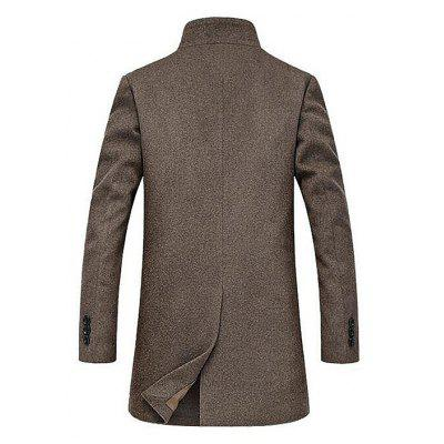 Stylish Stand Collar Wool Blazer JacketMens Jackets &amp; Coats<br>Stylish Stand Collar Wool Blazer Jacket<br><br>Closure Type: Single Breasted<br>Clothes Type: Wool &amp; Blends<br>Collar: Stand Collar<br>Embellishment: Others<br>Materials: Polyester, Wool<br>Occasion: Daily Use<br>Package Content: 1 x Wool Blazer Jacket<br>Package Dimension: 35.00 x 25.00 x 2.00 cm / 13.78 x 9.84 x 0.79 inches<br>Package weight: 1.2200 kg<br>Pattern Type: Solid<br>Product weight: 1.2000 kg<br>Seasons: Winter<br>Shirt Length: Long<br>Sleeve Length: Long Sleeves<br>Style: Classic<br>Thickness: Medium thickness