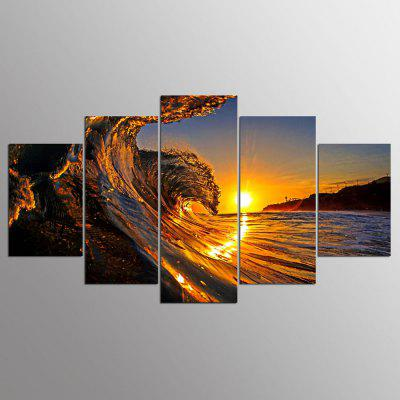 Buy COLORMIX YSDAFEN Modern Prints Sunset Hanging Wall Art 5PCS for $55.37 in GearBest store