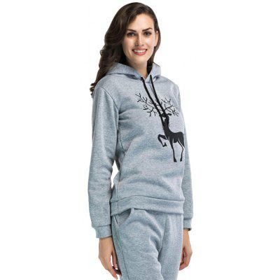 Women Long Sleeve Christmas Style Print HoodieSweatshirts &amp; Hoodies<br>Women Long Sleeve Christmas Style Print Hoodie<br><br>Clothes Type: Hoodie<br>Material: Polyester<br>Occasion: Daily Use, Casual<br>Package Contents: 1 x Hoodie<br>Package size: 25.00 x 14.00 x 1.00 cm / 9.84 x 5.51 x 0.39 inches<br>Package weight: 0.6500 kg<br>Product weight: 0.6300 kg<br>Style: Sports, Casual<br>Thickness: Regular