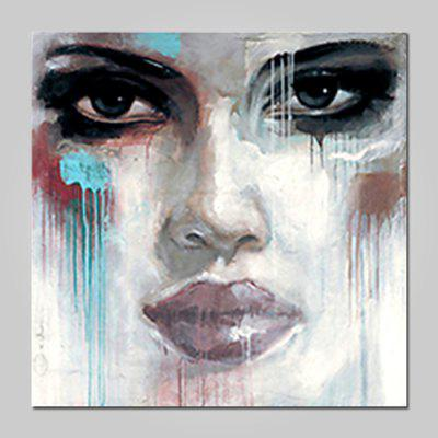 Mintura Modern Square Oil Painting Face Hanging Wall Art