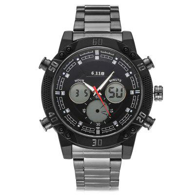 6.11 8169 Stainless Steel Band Multifunctional Men Watch
