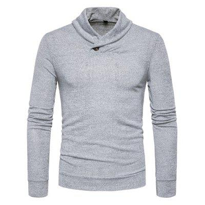 Male Sweater Solid Color Fashion Long Sleeves Button