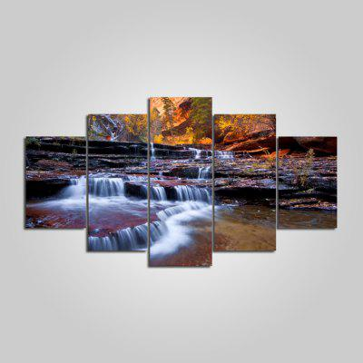 Buy COLORMIX YSDAFEN River Printed Painting Canvas Print 5PCS for $55.37 in GearBest store