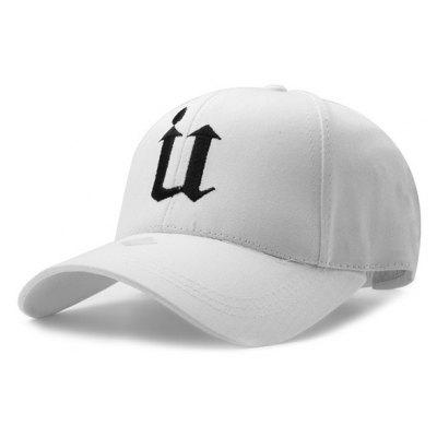 Buy WHITE Unisex Street Hip-hop U-type Embroidery Sports Cap for $2.82 in GearBest store