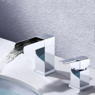 MLFALLS M1295CW Waterfall Spout Bathroom Sink FaucetFaucets<br>MLFALLS M1295CW Waterfall Spout Bathroom Sink Faucet<br><br>Battery Included: No<br>Body Sprays Included: No<br>Brand: MLFALLS<br>Cold and Hot Switch: Yes<br>Drain Included: No<br>Faucet Body Material: Brass<br>Faucet center: Single Hole<br>Faucet Features: Easy Install<br>Faucet Spout Material: Stainless Steel<br>Faucet Type: Bathroom Sink Faucet<br>Handle Material: Zinc Alloy<br>Handshower Included: No<br>Handshower Material: Brass<br>Home Finish: Chrome<br>Installation Holes Handles: Single Handle Two Holes<br>Installation Type: Widespread<br>Package Contents: 1 x Pack of Installation Fittings, 1 x English Manual<br>Package size (L x W x H): 29.50 x 22.50 x 7.50 cm / 11.61 x 8.86 x 2.95 inches<br>Package weight: 2.5000 kg<br>Product size (L x W x H): 10.20 x 4.20 x 11.40 cm / 4.02 x 1.65 x 4.49 inches<br>Product weight: 2.2000 kg<br>Rain Shower Included: No<br>Rain Shower Material: Brass<br>Shower Arm Included: No<br>Style: Contemporary<br>Valve Included: Yes<br>Valve Type: Ceramic Valve