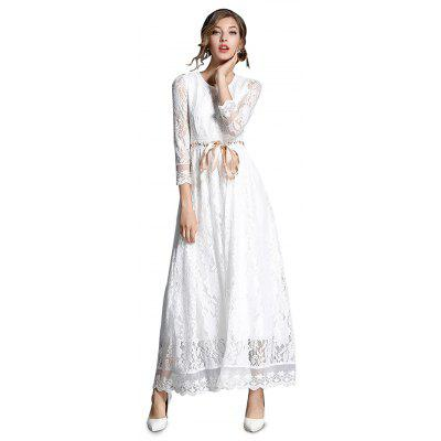 White Maxi Lace Dress