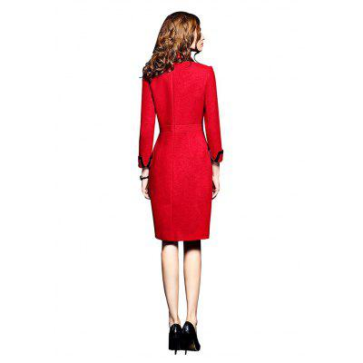 Peter Pan Collar Long-sleeved Sheath DressWomens Dresses<br>Peter Pan Collar Long-sleeved Sheath Dress<br><br>Dresses Length: Knee-Length<br>Embellishment: Button<br>Material: Nylon, Spandex<br>Neckline: Peter Pan Collar<br>Package Contents: 1 x Dress<br>Package size: 34.00 x 26.00 x 1.00 cm / 13.39 x 10.24 x 0.39 inches<br>Package weight: 0.8900 kg<br>Pattern Type: Striped<br>Product weight: 0.8600 kg<br>Season: Fall, Spring<br>Silhouette: Sheath<br>Sleeve Length: Long Sleeves<br>Style: Office Lady<br>With Belt: No