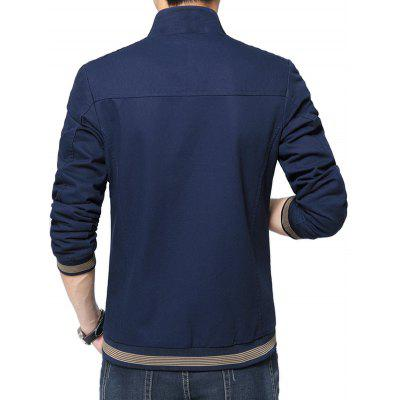 NIANJEEP Cool Pure Color Stand-up Collar Slim Jacket for MenMens Jackets &amp; Coats<br>NIANJEEP Cool Pure Color Stand-up Collar Slim Jacket for Men<br><br>Brand: NIANJEEP<br>Closure Type: Zipper<br>Clothes Type: Jackets<br>Collar: Stand-Up Collar<br>Embellishment: Others<br>Materials: Cotton, Polyester<br>Occasion: Daily Use<br>Package Content: 1 x Jacket<br>Package Dimension: 54.00 x 38.00 x 3.00 cm / 21.26 x 14.96 x 1.18 inches<br>Package weight: 0.9400 kg<br>Pattern Type: Solid<br>Product weight: 0.8000 kg<br>Seasons: Autumn,Winter<br>Shirt Length: Regular<br>Sleeve Length: Long Sleeves<br>Style: Fashion, Casual<br>Thickness: Medium thickness
