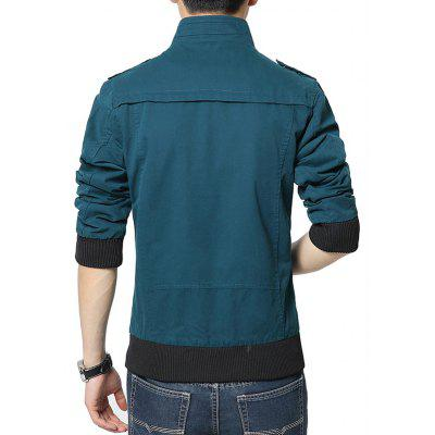 NIANJEEP Male Cool Simple Stand-up Collar Slim JacketMens Jackets &amp; Coats<br>NIANJEEP Male Cool Simple Stand-up Collar Slim Jacket<br><br>Brand: NIANJEEP<br>Closure Type: Zipper<br>Clothes Type: Jackets<br>Collar: Stand-Up Collar<br>Embellishment: Others<br>Materials: Cotton, Polyester<br>Occasion: Daily Use<br>Package Content: 1 x Jacket<br>Package Dimension: 55.00 x 39.00 x 3.00 cm / 21.65 x 15.35 x 1.18 inches<br>Package weight: 1.0900 kg<br>Pattern Type: Solid<br>Product weight: 0.9500 kg<br>Seasons: Winter<br>Shirt Length: Regular<br>Sleeve Length: Long Sleeves<br>Style: Fashion, Casual<br>Thickness: Medium thickness