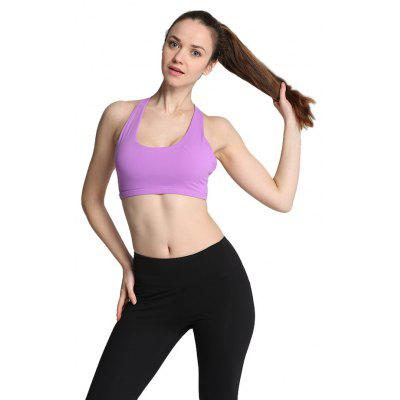 Buy PURPLE L Women Ideal Sports Bra for Yoga Exercise for $11.23 in GearBest store