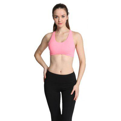 Buy PINK L Women Ideal Sports Bra for Yoga Exercise for $11.23 in GearBest store