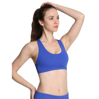 Buy BLUE L Women Ideal Sports Bra for Yoga Exercise for $11.23 in GearBest store