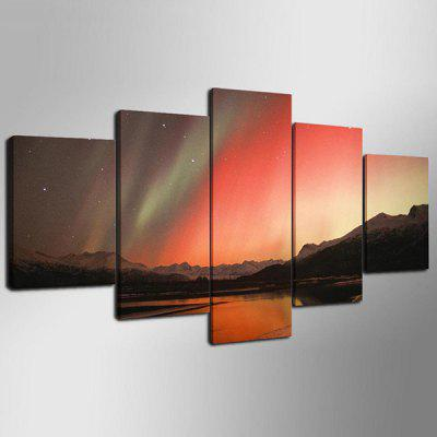 YSDAFEN Framed Aurora Landscape Decoration Painting Art PrintPrints<br>YSDAFEN Framed Aurora Landscape Decoration Painting Art Print<br><br>Craft: Print<br>Form: Five Panels<br>Material: Canvas<br>Package Contents: 5 x Print<br>Package size (L x W x H): 82.00 x 32.00 x 12.00 cm / 32.28 x 12.6 x 4.72 inches<br>Package weight: 1.5000 kg<br>Painting: Include Inner Frame<br>Product weight: 1.2000 kg<br>Shape: Vertical Panoramic<br>Style: Landscape<br>Subjects: Landscape<br>Suitable Space: Bedroom,Hotel,Living Room