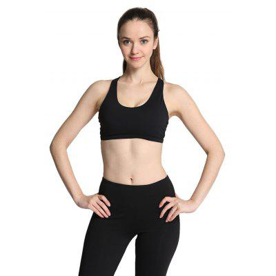 Buy BLACK L Women Ideal Sports Bra for Yoga Exercise for $11.23 in GearBest store