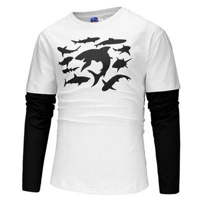 Mr 1991 INC Miss Go Male Shark Printed Sweatshirt