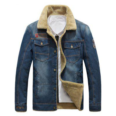NIANJEEP 99891 Stylish Denim Winter Jacket