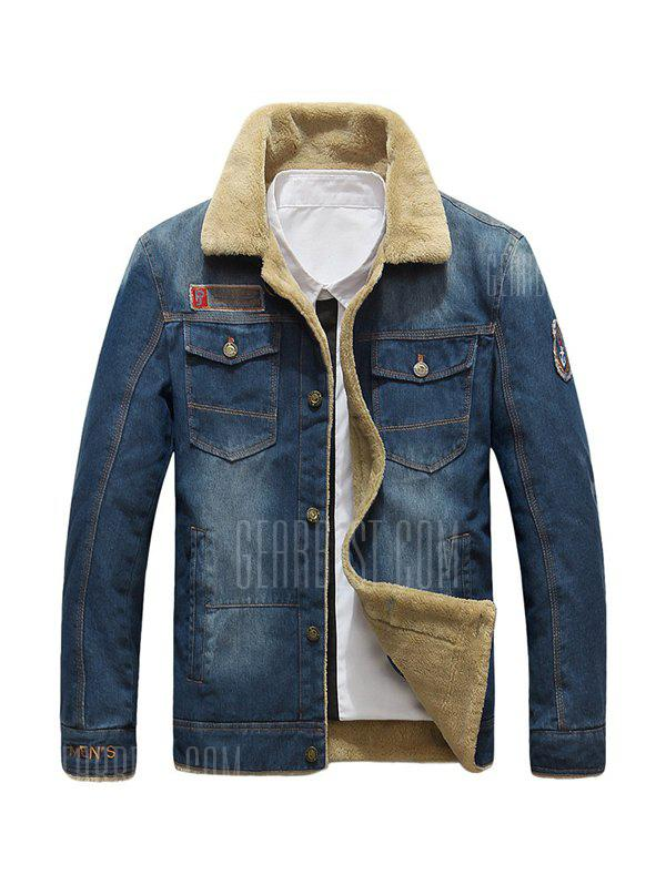 NIANJEEP 99891 Fashion Giacca Invernale in Denim