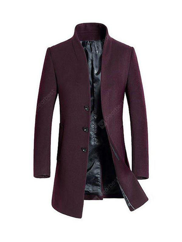 Stylish Stand Collar Wool Blazer Jacket