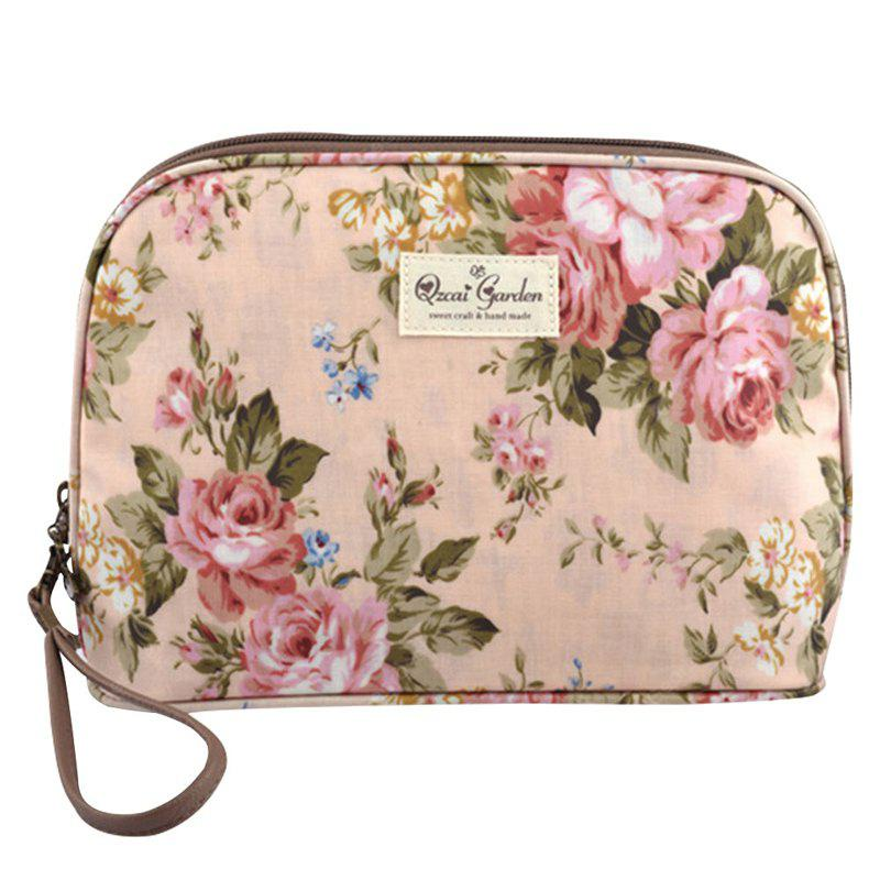 Fashion Floral Printed Multi-function Makeup Cosmetic Bag