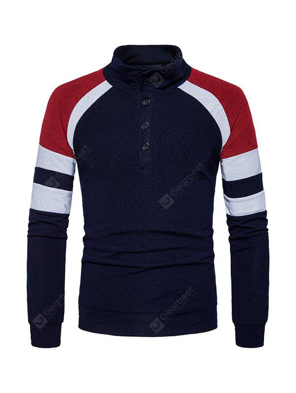 Men Sweater Casual Warm Stand Collar Long Sleeves