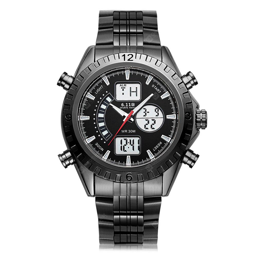 6.11 901 Stainless Steel Band Multifunctional Men Watch