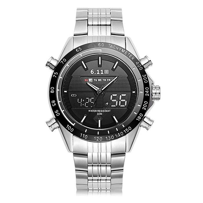 6.11 691 Stainless Steel Band Multifunctional Men Watch