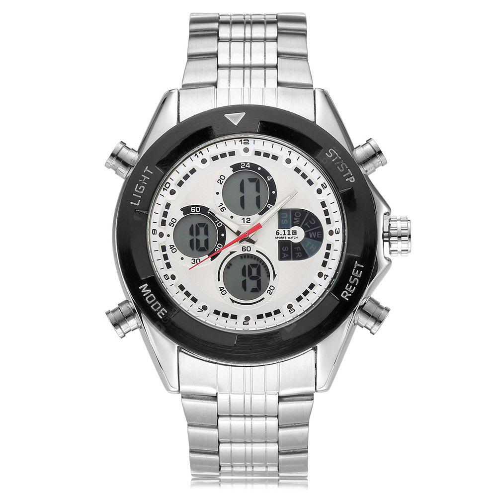 6.11 903 Stainless Steel Band Multifunctional Men Watch