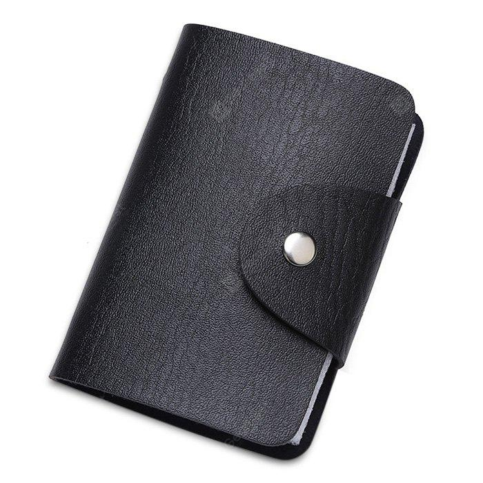 Multifunctional Fashion PU Solid Color Card Holder