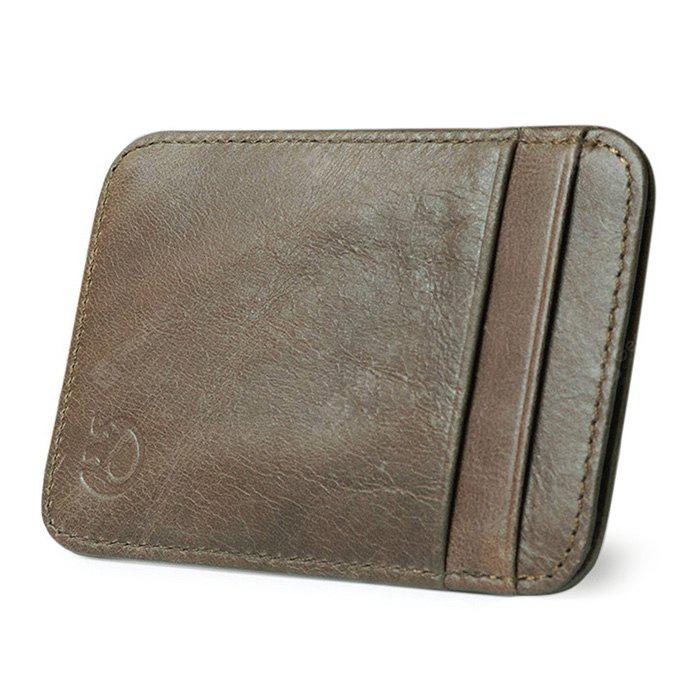 Men Multifunctional Fashion Solid Color Leather 5 Card Wallet