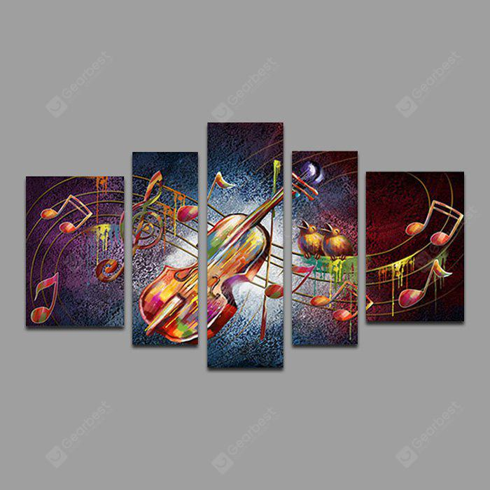Violin Printed Painting Canvas Print 5PCS
