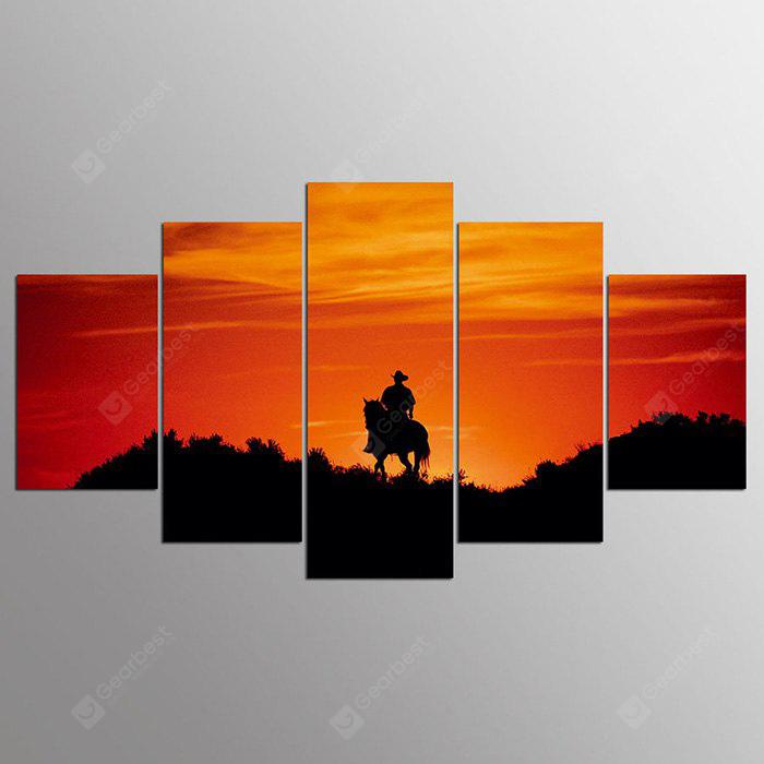 YSDAFEN ny - 295 Painting Home Decor Sunset Canvas Print 5PCS