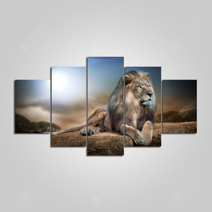 YSDAFEN Lion Printed Painting Canvas Print 5PCS