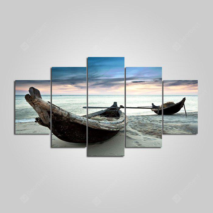 YSDAFEN Boat Printed Painting Canvas Print 5PCS