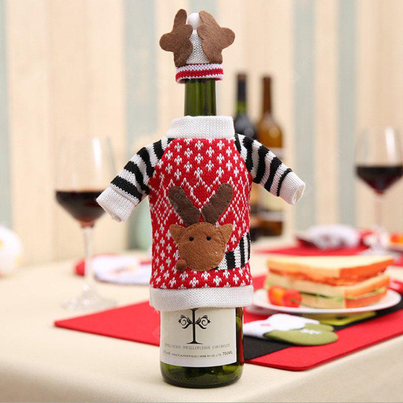 Christmas Decorative Sweater Shape Wine Bottle Cover with Hat