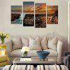 God Painting Canvas Prints Waterway Hanging Wall Art 4PCS - COLORMIX
