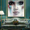 Mintura Modern Square Oil Painting Face Hanging Wall Art - COLORMIX